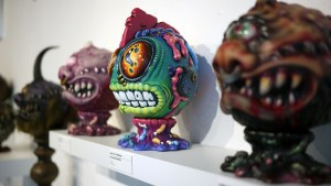 Madballs All-Star Art Jam and Exhibition - Remjie Malham's Space Virus Bothead