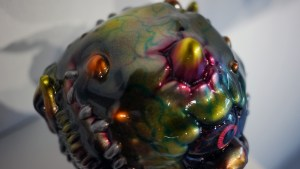 Madballs All-Star Art Jam and Exhibition - Mark Nagata's Metallic Madballs #2