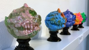 Madballs All-Star Art Jam and Exhibition - Scott Wilkowski's Infected Cyclops & Infected Cyclops Skeleton