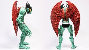 Mike Sutfin's Devilman figure from Unbox Industries, side & back