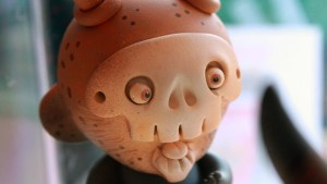 Mr. Mitote's Calavera A (4 inch Munny in wooden car) - Chamuco Solo Exhibition