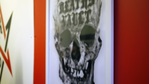 Death's Vault poster at Black Sabbath exhibition