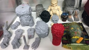 Mutant Vinyl Hardcore's master sculpt display at the Black Sabbath exhibition display at the Death's Vault gallery