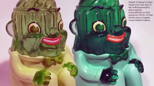 Nouar's Green Apple and Lime Resin Sculptures, 2016