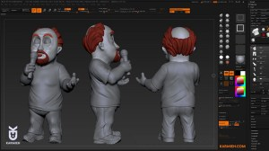 Oasim Karmieh's Louis C.K. Art Toy ZBrush File