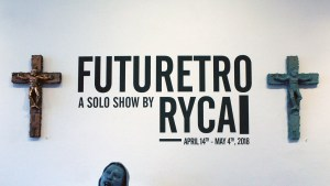 RYCA's Crucified Troopers at the Futuretro exhibition