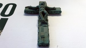 RYCA's Crucified Trooper (Patina) at the Futuretro exhibition