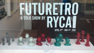 RYCA's window display at the Futuretro exhibition