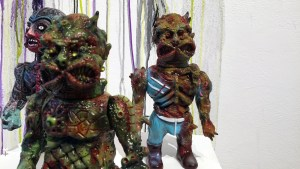 Violence Toy's Timegore - Cannibal Luau at Clutter Gallery's Vinylploitation exhibition