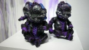 Miscreation Toys' Mutated Zombie Baby 2099 at Clutter Gallery's Vinylploitation exhibition