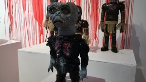 Violence Toy's Asogian Assassin - Puzzle Man at Clutter Gallery's Vinylploitation exhibition