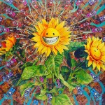Ron English's Growing Grins - original painting
