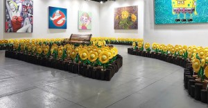 Ron English's Growing Grins - installation view