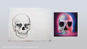 Ron English's Heart Skull - Sketch & Painting examples