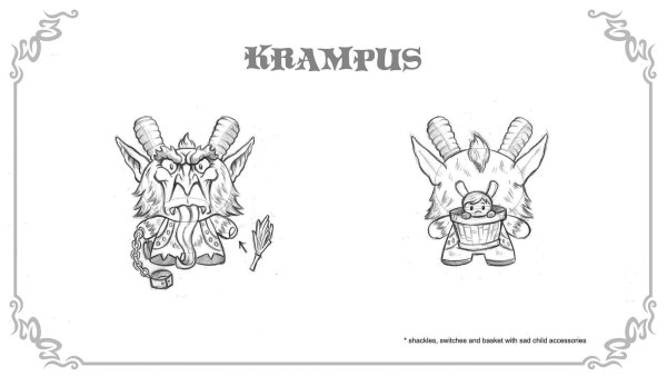 Scott Tolleson's The Odd One Dunny Series, rejected KRampus design
