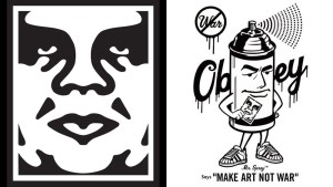 Shepard Fairy's Obey Giant & Mr. Spray designs