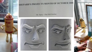 Shepard Fairy's Mr. Spray vinyl figure from StrangeCo, prototype circa 2008