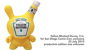 "Sket One Dunny - Yellow Mustard 3"" Dunny, SDCC exclusive, 2010"