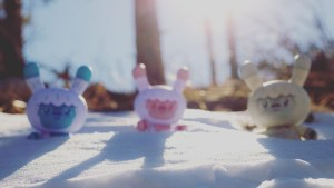 """Squink's Kono the Yeti 8"""" Dunny from Kidrobot, All 3 Edition, 2018"""