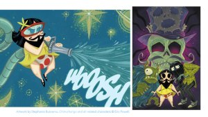 Stephanie Buscema's art for Chimichanga: The Sorrow of the World's Worst Face