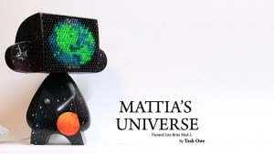 Task One's custom Mattia's Universe: Painted Lite-Brite MAD*L, 2010