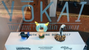 Yokai exhibition - main window display