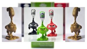 VISEone's Tube Monsters in Black, Zombie, and Tomato, 2012