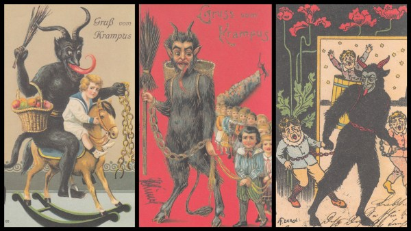 Vintage images from The Devil in Design: the Krampus Postcards