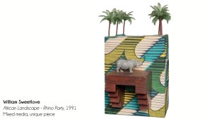 William Sweetlove's African Landscape - Rhino Party, 1991