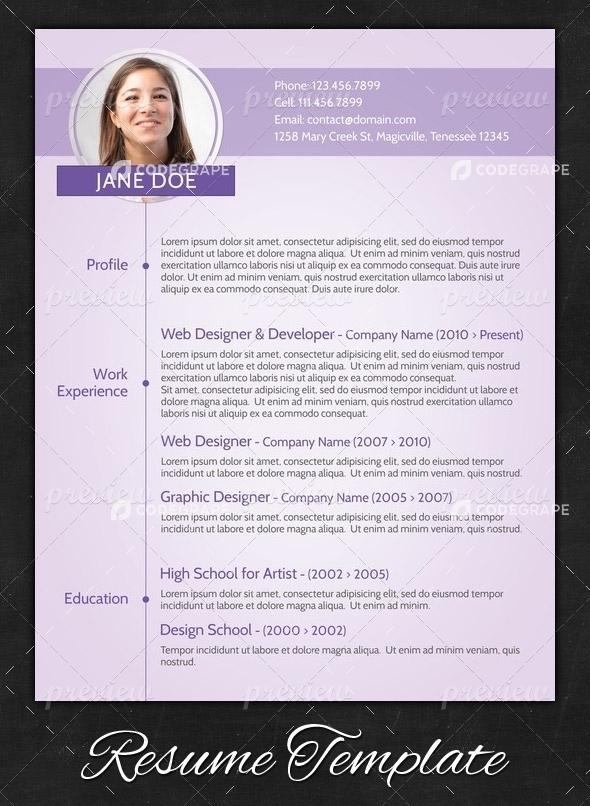 Purple Modern Resume Print CodeGrape