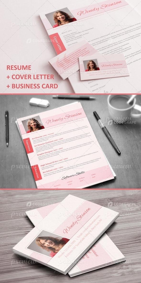 CV Cover Letter Business Card Set Print CodeGrape