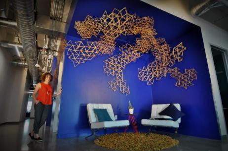Melissa Borrell unveils custom sculpture for Facebook + details on November studio tour