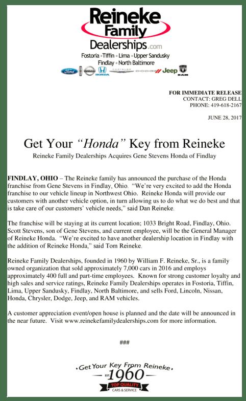 Reineke Ford Fostoria : reineke, fostoria, Fostoria, Business, Newsletter