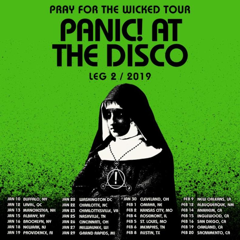 9b38f9f1 Panic! At The Disco Announce Second Leg Of Pray For The Wicked Tour  Including International Dates