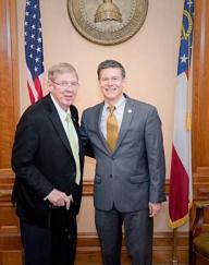 U.S. Senator Johnny Isakson and State Rep. Brett Harrell
