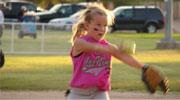 little girl softball pitcher