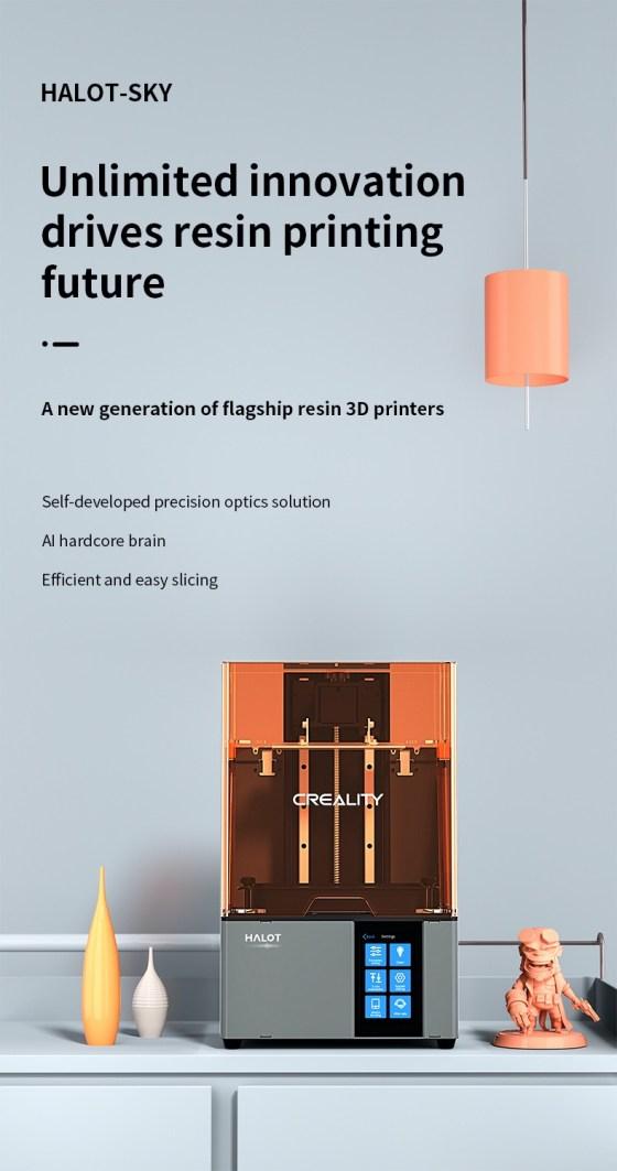7960 Resin Printer Creality CN3D Epsilon 001 Creality Halot-Sky CL-89, imprimanta 3D cu rasini, 4K, sistem de iluminare inovator