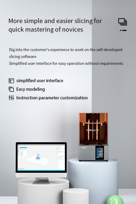 7960 Resin Printer Creality CN3D Epsilon 007 Creality Halot-Sky CL-89, imprimanta 3D cu rasini, 4K, sistem de iluminare inovator