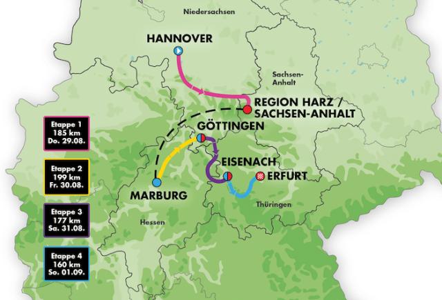 Deutschland Tour 2019 - Streckenkarte