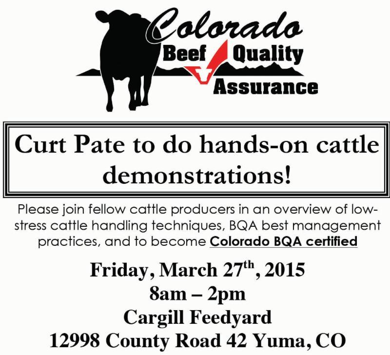 03-13-15 Beef Quality Assurance Training at Cargill Feedyard in Yuma ...