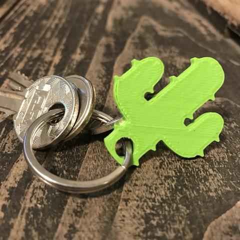 cactus keychain or pendant