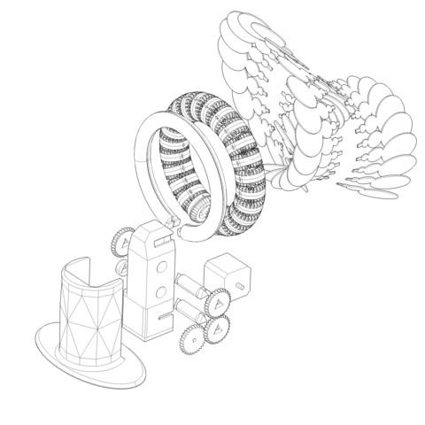 Download 3D printer designs RAINBOW ROLLER-COASTER