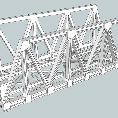 Download free 3D printing files HO Scale Warren Truss