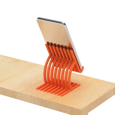 Free 3D printer templates Cell phone stand4  Cults