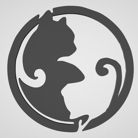 wall decoration cat yin