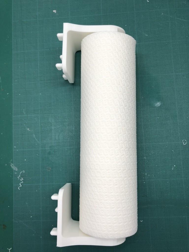 porte serviettes en papier grab et go pour montage mural ou sur panneau ikea