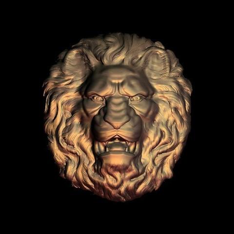 fierce lion face