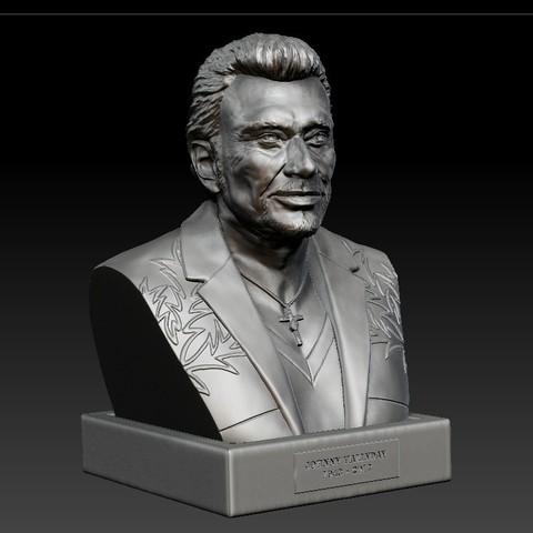 Modelos 3D para imprimir JOHNNY HALLYDAY  Cults