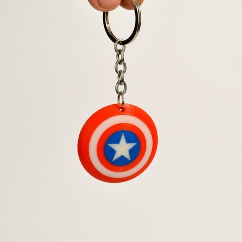 captain america shield keychain