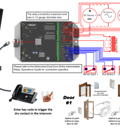 connecting to inductive type loads networked dual door strike relay product cd 011375 remote switch connection [ 1405 x 801 Pixel ]